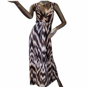 I.N.C. Black & White Tie Dye Look Maxi Dress Sz 1X